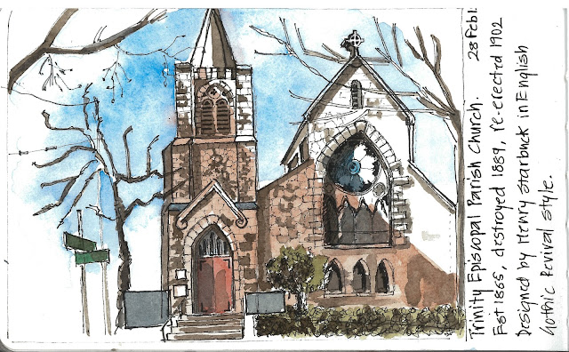SUnil SHinde Sketches Trinity Episcopal Church, Seattle
