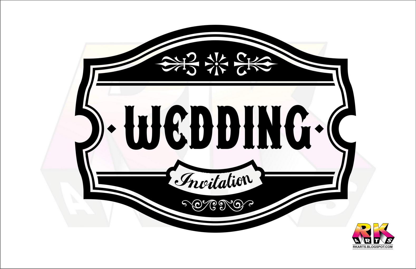 Wedding Invitation Title Label Design With Decorative Ornament