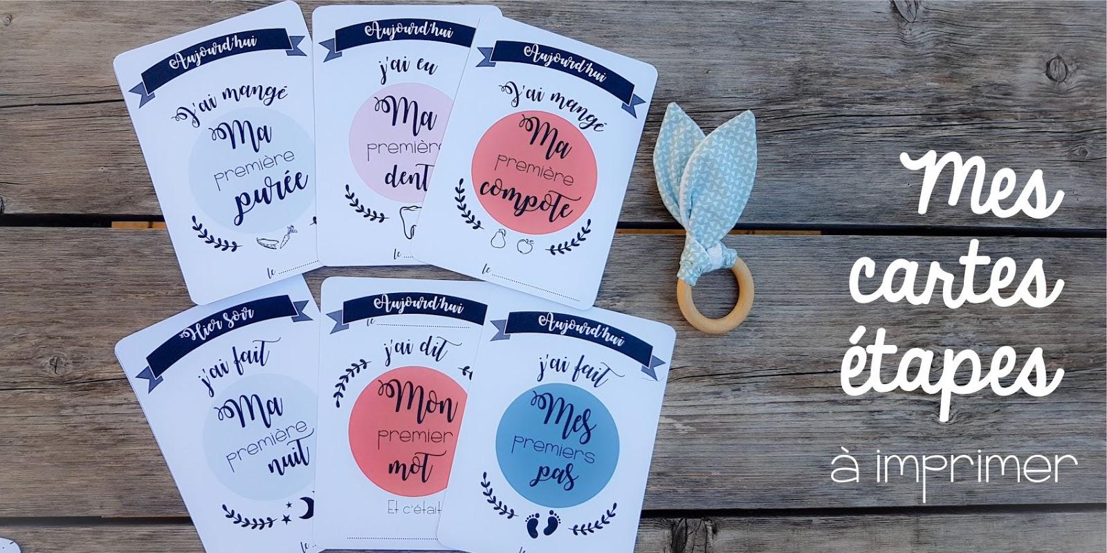 carte etape bebe a imprimer gratuit DIY : Cartes étapes free printable