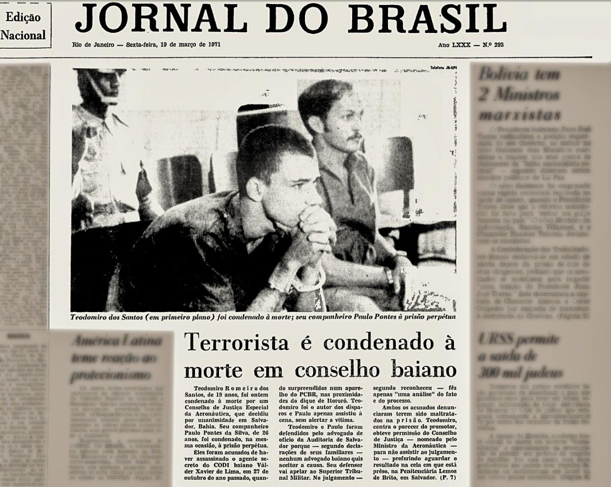 anos 70. ditadura militar. terrorismo no Brasil. PCBR.; Oswaldo Hernandez;