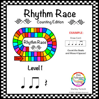 This picture is of a great game by Pitch Publications for practicing rhythm.