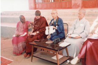 Ven. Pema Chodron, a co-founder of Sakyadhita International Association of Buddhist Women,  at the 1st Sakyadhita International Conference held on Bodhgaya, India in 1987.