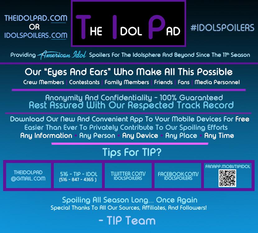 TIP (The Idol Pad) - American Idol Spoilers #idolspoilers
