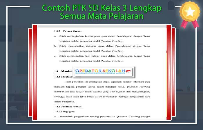 Contoh PTK SD Kelas 3
