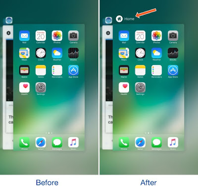HomeCardIconLabel-Before-and-After-768x738%2B%25281%2529 Tweak: HomeCardIconLabel makes the App Switcher's House display screen card extra constant Apps iPhone Jailbreak