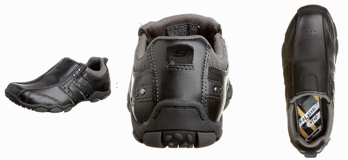 7de29a690bf Vista desde tres angulos de estos zapatos negros