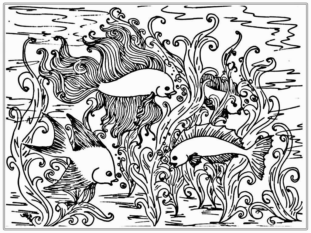 Free Coloring Pages Of Fish