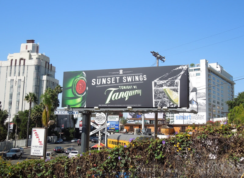 Sunset Swings Tanqueray gin billboard