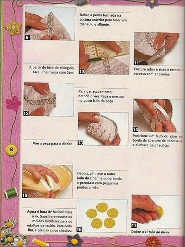 Несколько выкроек и идей для шитья косметичек