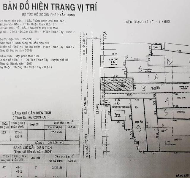 Bán Đất Mặt tiền 78 Lâm Văn Bền, Tân Thuận Tây, Quận 7