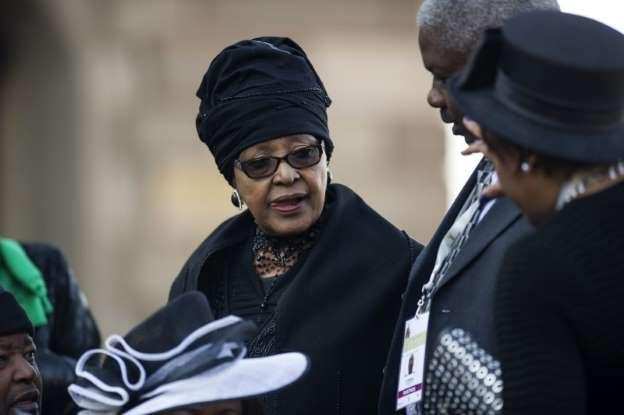 South Africa's Winnie Mandela admitted to hospital