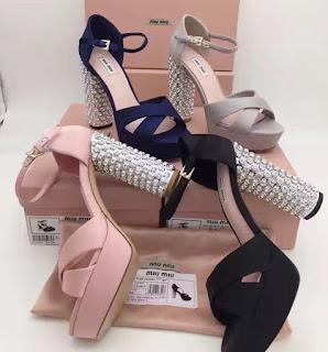 Sandale cu toc si platforma MIU MIU