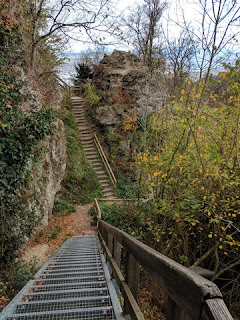 Twin staircases lead to the top of the Uetliberg, Zürich, Switzerland