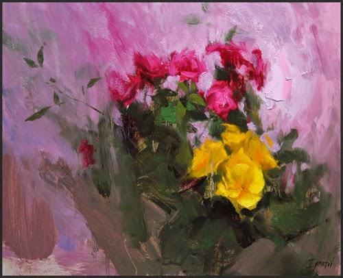 Primulas Amarelas - Ignat Ignatov e suas mais belas pinturas  ~ Pintora russa
