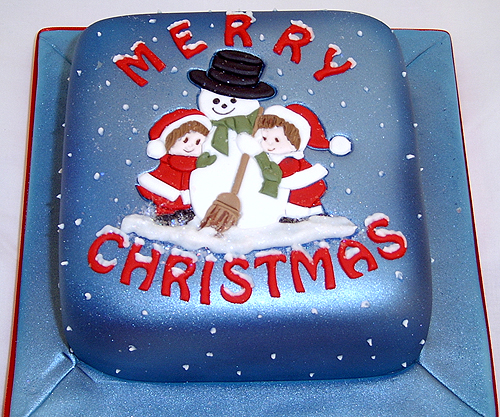 Decorated Christmas Cake Pictures