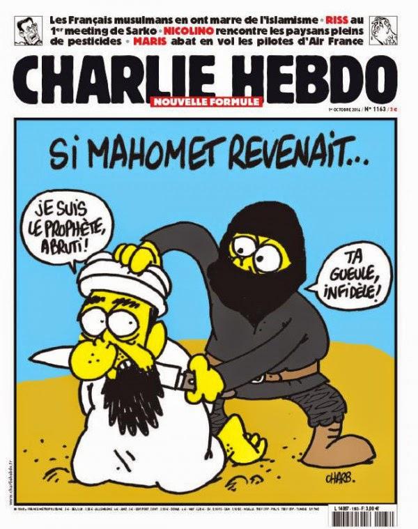 Hasil gambar untuk karikatur charlie hebdo hina islam