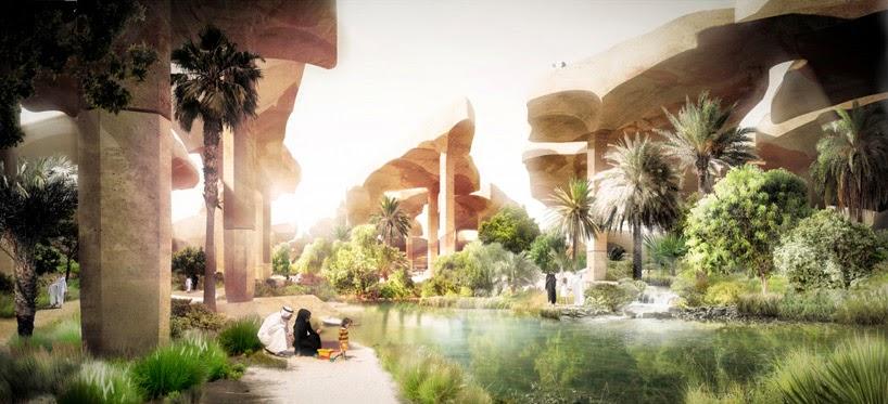 oasis en el desierto