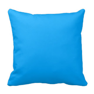 Aqua blue throw pillow