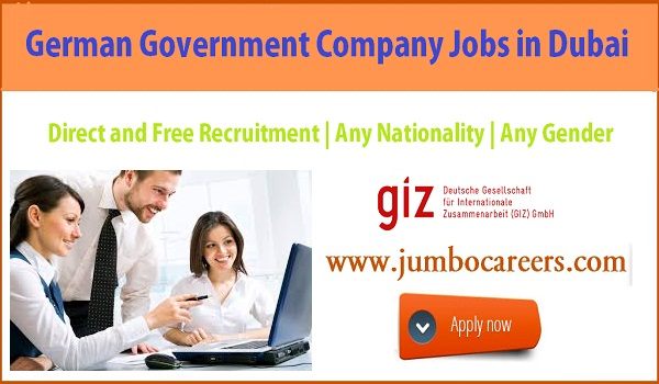 Manger jobs in German Government company Dubai, List down all government jobs in Dubai,