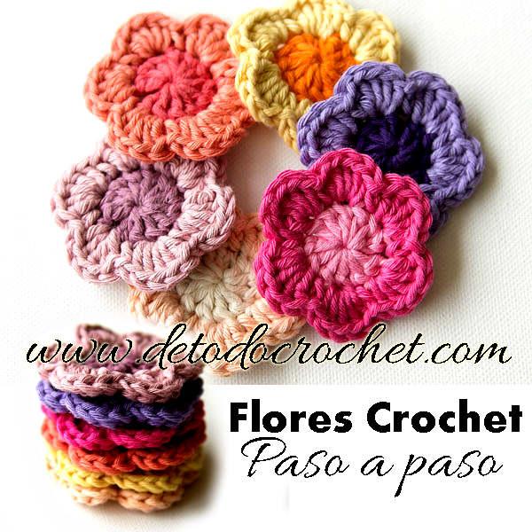 Flores f ciles para tejer paso a paso todo crochet - Hacer flores de ganchillo ...