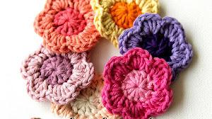 Flores fáciles para tejer paso a paso