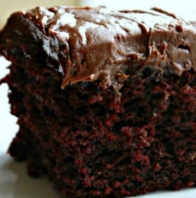 CHOCOLATE CRAZY CAKE RECIPE (NO EGGS, MILK, BUTTER OR BOWLS)