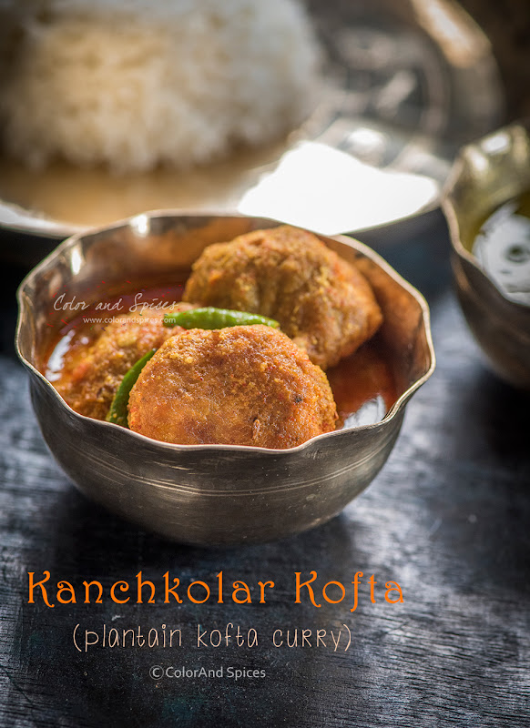 Kanchkolar kofta, no onion no garlic, vegan recipe