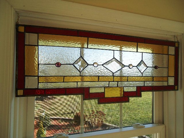 Leaded GLASS Transom WINDOWS