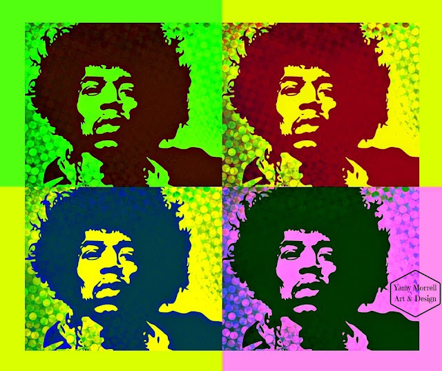 Jimi-Hendrix-digital-art-collage-pop art-by-yamy-morrell