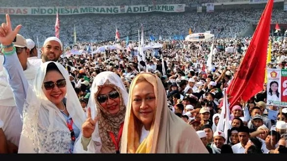 Tiga Putri Soeharto Disambut di Kampanye Akbar Prabowo