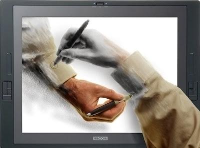 Biri ekran çıkarak diğeri ekrana girerek birbirini çizen eller