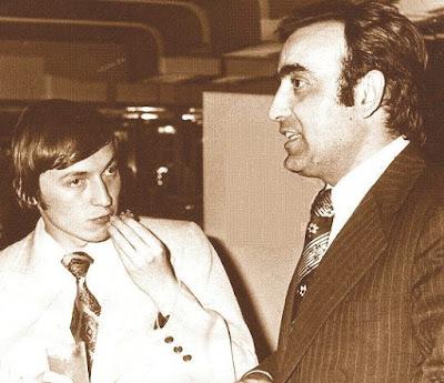Anatoli Kárpov y Joaquim Travesset en 1984
