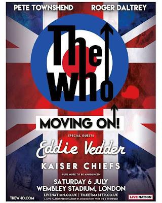 Resultado de imagem para The Who anuncia show com Eddie Vedder e Kaiser Chiefs