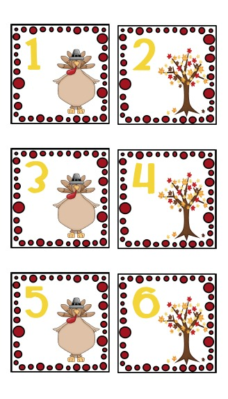 Free November Calendar Cards creating  teaching