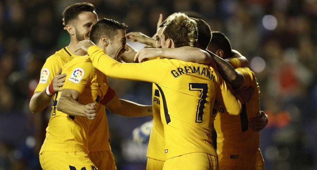 cuplikan gol levante vs atletico madrid 0-5