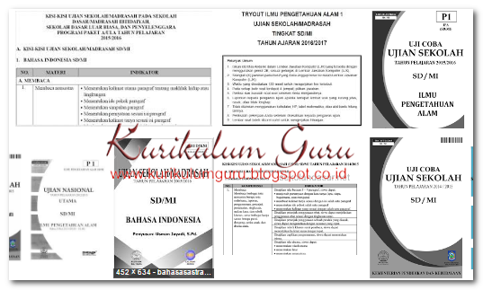 Soal dan Kunci Jawaban Latihan Ujian Sekolah Matematika, Bahasa Indonesia dan Ilmu Pengetahuan Alam (IPA) SD/MI Terbaru