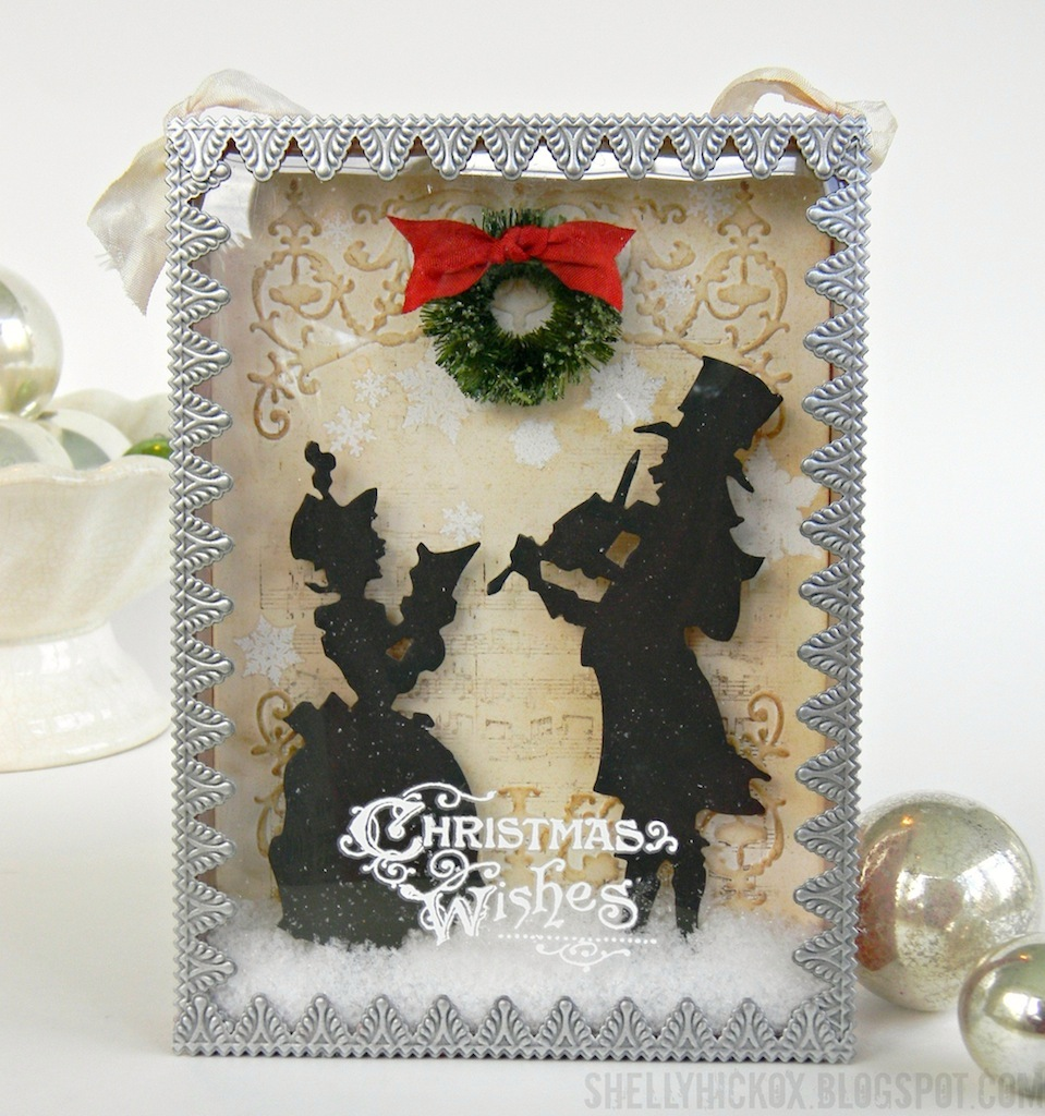 Victorian Christmas Carolers Decorations: Stamptramp: Sizzix Victorian Carolers Shadow Box