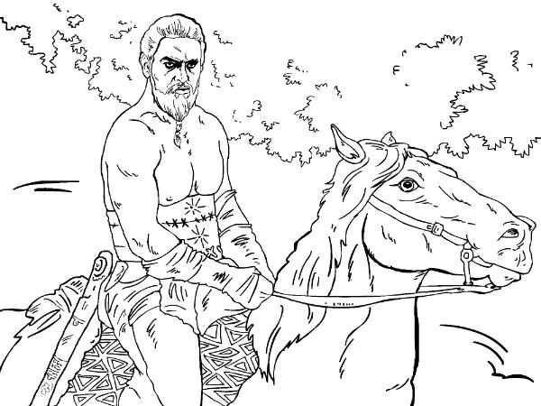 Khal Drogo Coloring Pages Coloring Pages
