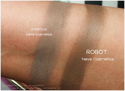 comparazioni recensione ROBOT swatchesx ombretto - Collezione Mutations -Neve cosmetics