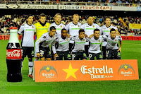 VALENCIA C. F. - Valencia, España - Temporada 2010-11 - Topal, Guaita, Stankevicius, Mathieu, Maduro y Joaquín; Ricardo Costa, Miguel, Pablo Hernández, Mata y Aduriz - VALENCIA C. F. 2 (Aduriz y Mata) R. C. D. ESPANYOL DE BARCELONA 1 (Ricardo Costa, p.p.) - 02/01/2011 - Liga de 1ª División, jornada 17 - Valencia, estadio de Mestalla - El Valencia se clasificó 3º en la Liga, con Unai Emery de entrenador