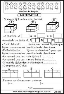 Atividades de matemática para séries iniciais