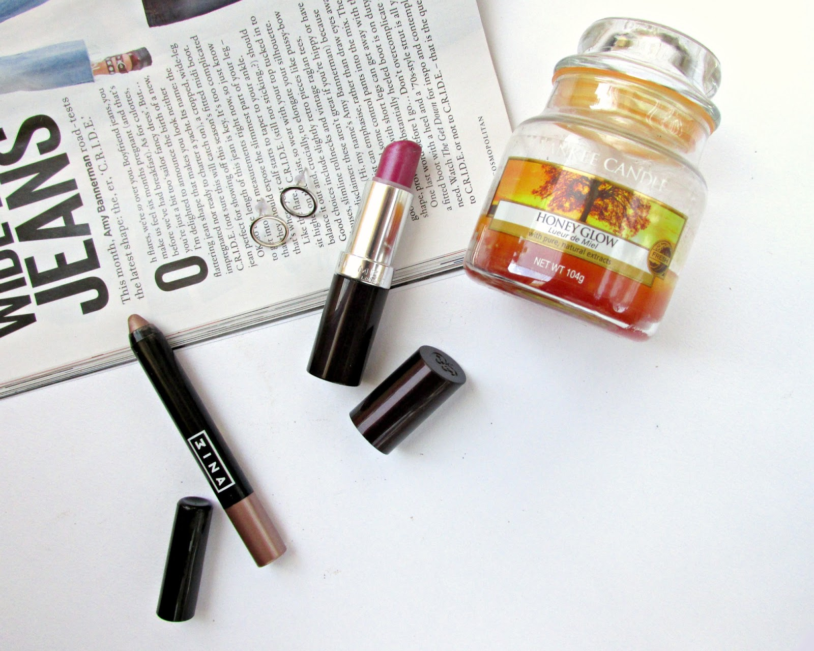 October favourites 2016, rimmel lipstick, 3ina eye shadow, Rosegal earrings, Yankee candle