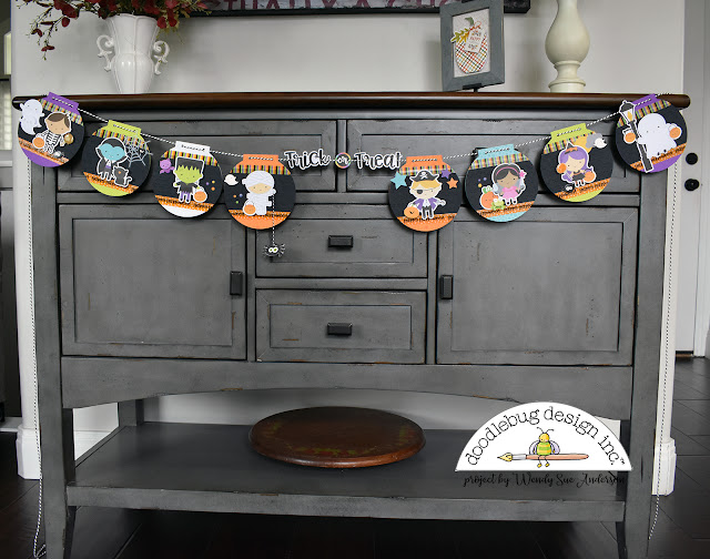 """Booville"" Halloween Trick-or-Treat banner by @WendySue for Doodlebug Design"