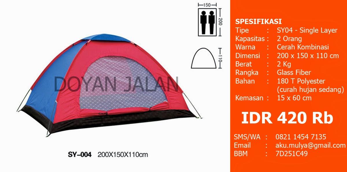 Harga Tenda Dome Kapasitas 2 Orang Murah