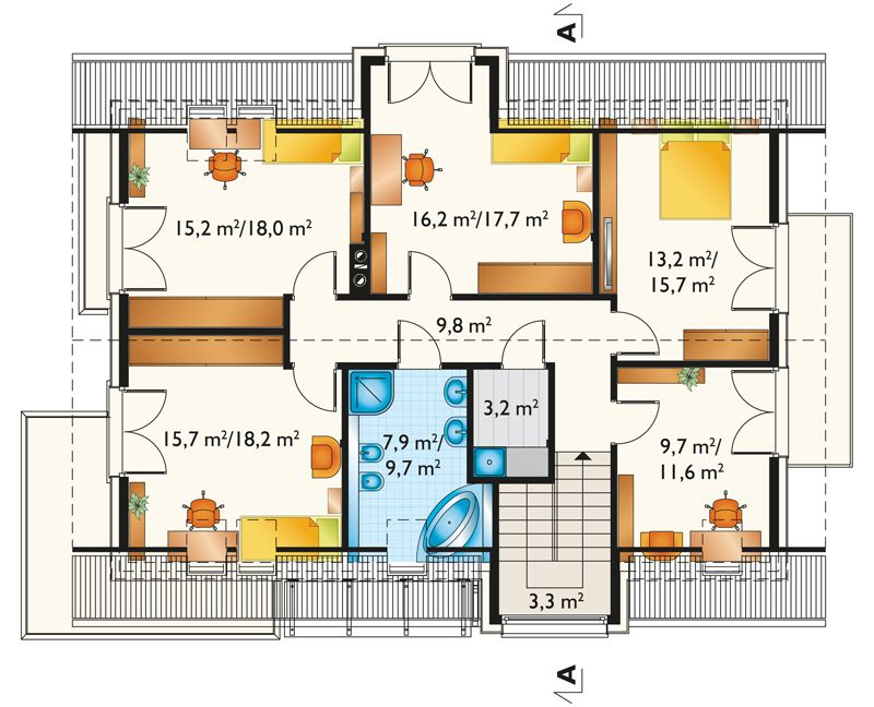 We all love to have extra spaces, especially in our home. Extra space serves many purposes. But have you ever wondered what would happen if the house became too small for a family? There's an instance that we can feel that our house is too small for us and we need an extra space to breathe or just to relax for a while.  Our future needs of space should be considered in planning to build a house or choosing a design. Yes, a small house or a two-bedroom home is a good option for a couple who is starting a family. But what happened if the family starts to grow with two or more children? What if there is a friend or members of the extended family who needs an overnight stay? Indeed we need to consider these things and yes an extra space is needed.   In this situation, there are several practical solutions. As they say, space can always be expanded both horizontally and vertically. But if this is not possible, you can always utilize your attic! Don't you know that your attic can be transformed into another bedroom? It could be a guest room, a playroom, a library and so on. Before doing this, the height of your attic should be considered if these things are attainable.   But if you are looking for house design with an attic that can be functional someday, you will love this house design below!
