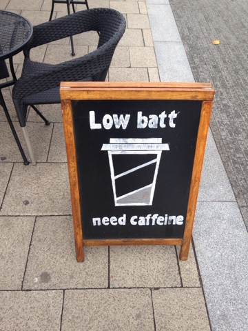 Low Battery Need Caffeine