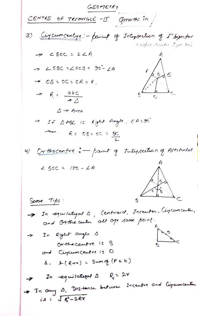 Triangle ssc cgl