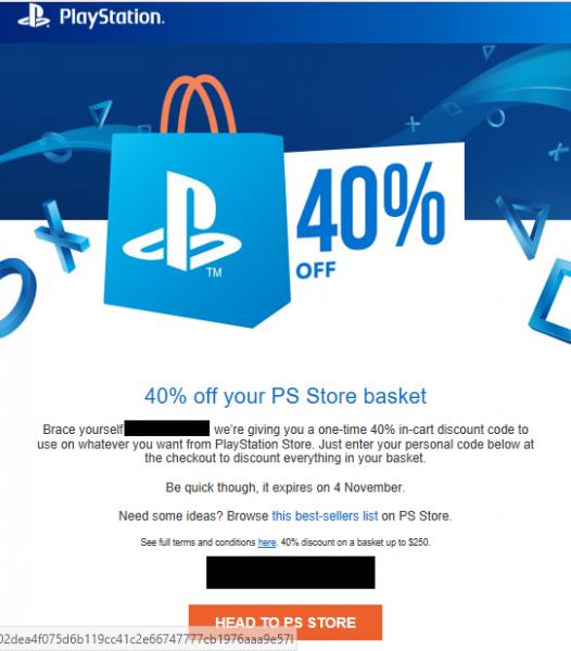 سوني ترسل أكواد تخفيضات تصل قيمتها لغاية 40 على متجر Playstation Store هل توصلت به