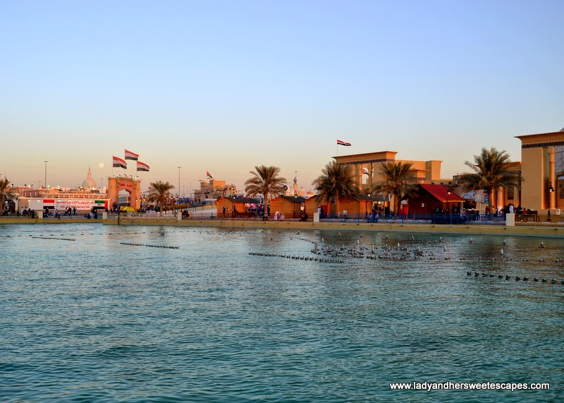 man-made lake at The Global Village