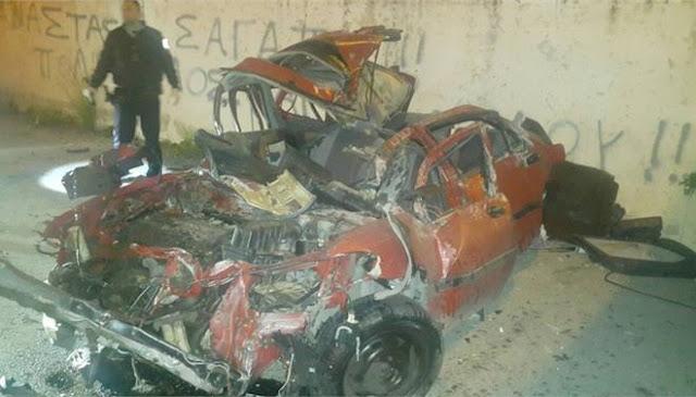 Σοκαριστικό τροχαίο με ένα νεκρό - Αυτοκίνητο έπεσε από ύψος 13 μέτρων